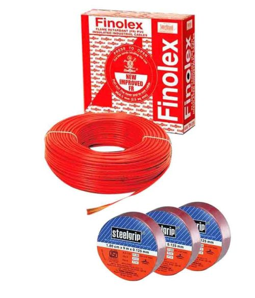 small resolution of finolex house wire 1 5 sqmm fr 90 mts green with free set of 3 insulation tapes