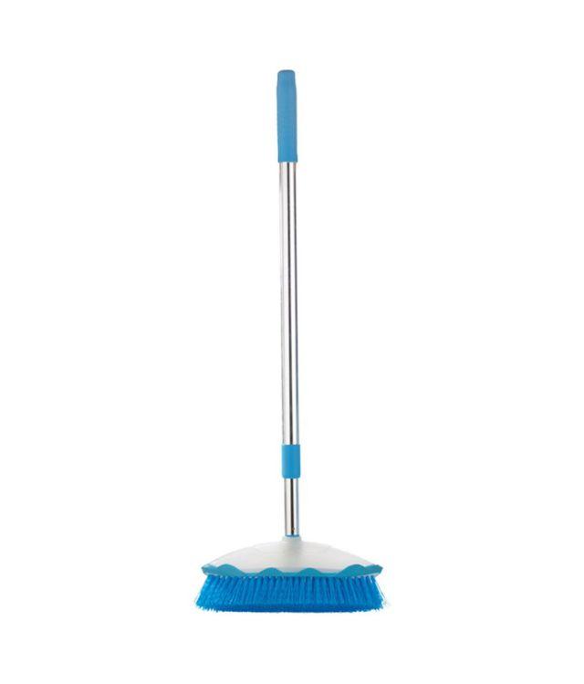 Zibo Multicolour Body - Plastic, Handle - Metal Floor Broom with Long Handle