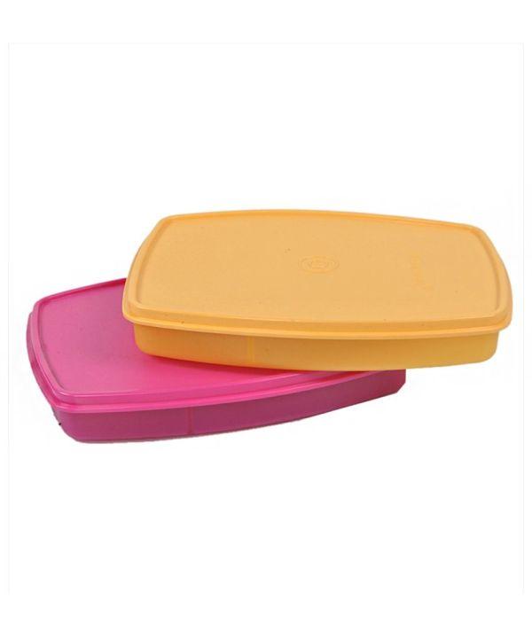 Tupperware Classic Slim Lunch Box Set Of 2 Online