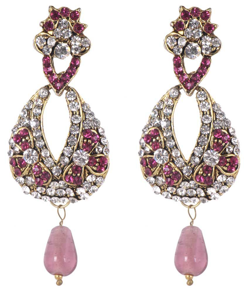 Sp Jewellery Peach Drop Earrings: Buy Sp Jewellery Peach