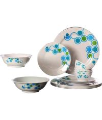 Tupperware Azure Dinner Set With Dessert Plates: Buy