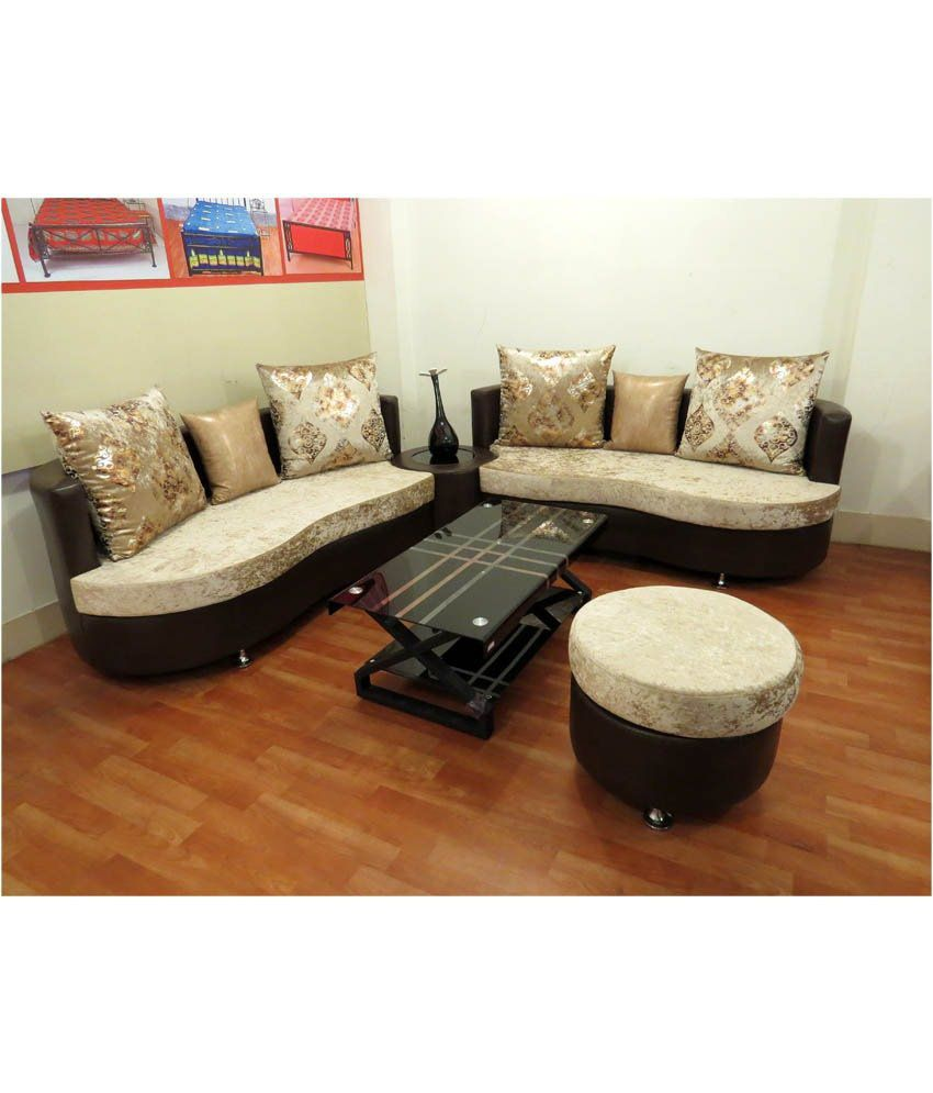 sofa set for living room online best custom los angeles 7 seater in black (3+3+1) - buy ...