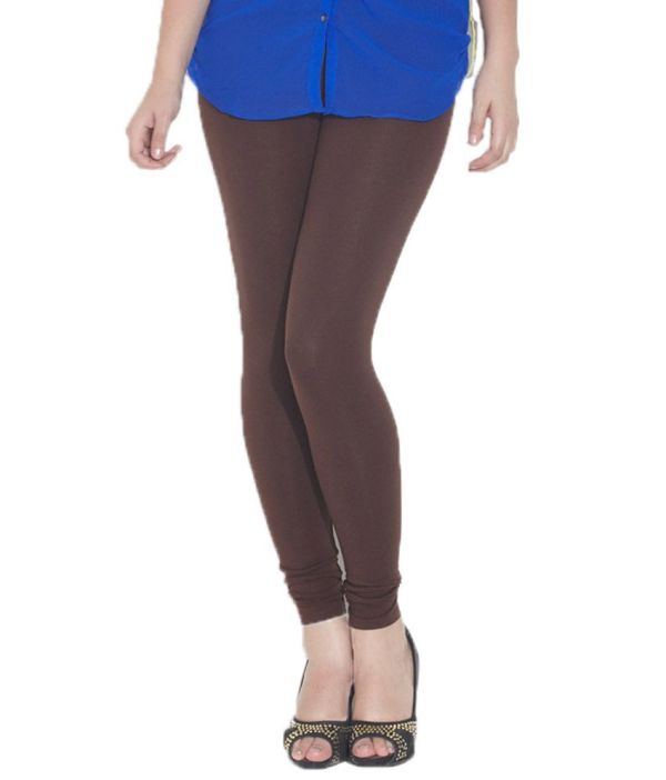 Girly Girl Brown Cotton Legging In India
