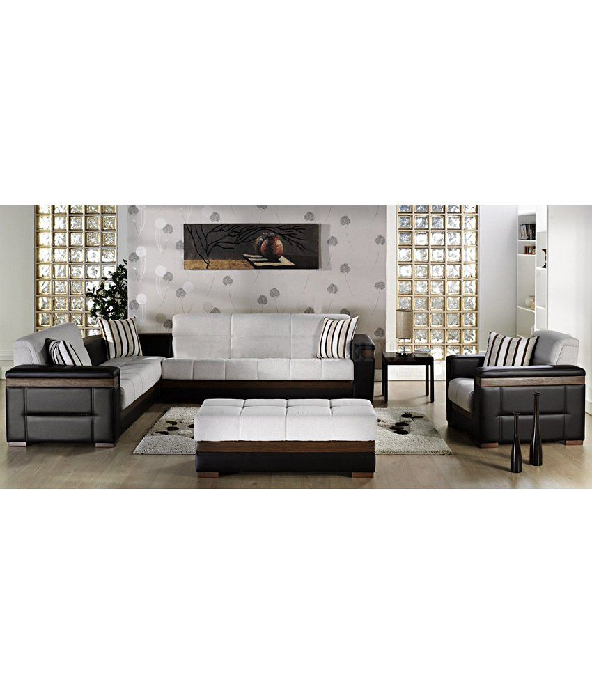 7 seater wooden sofa set designs bed combo u shaped online india | baci living room