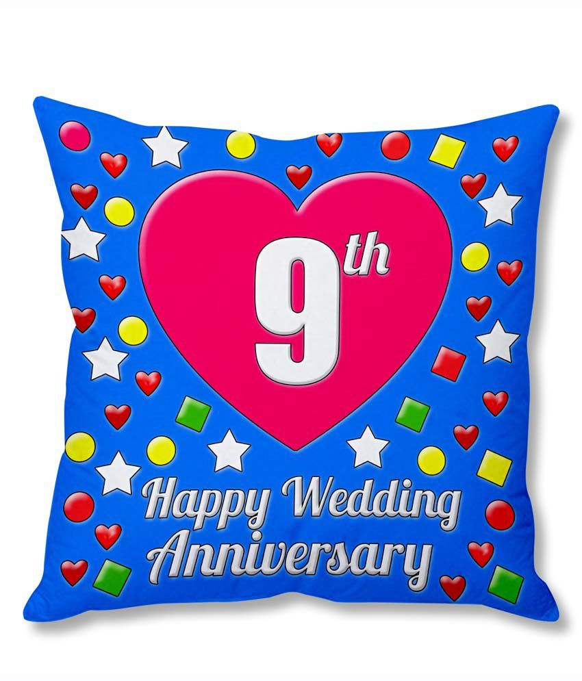 Photogiftsindia 9th Wedding Anniversary Cushion Cover Buy Online at Best Price  Snapdeal