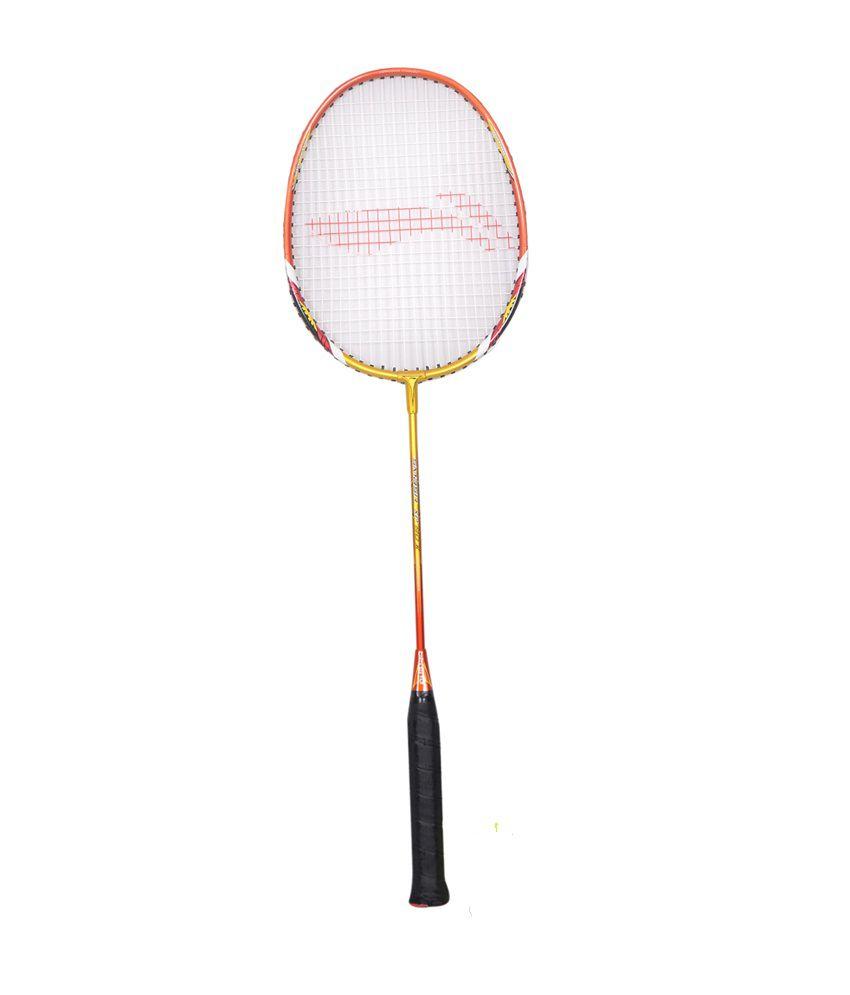 Li-Ning Smash XP 90 II Strung Badminton Racket - Golden/Red