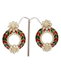 SK Ladies Traditional Fashion Jewellery-Round Earring ...