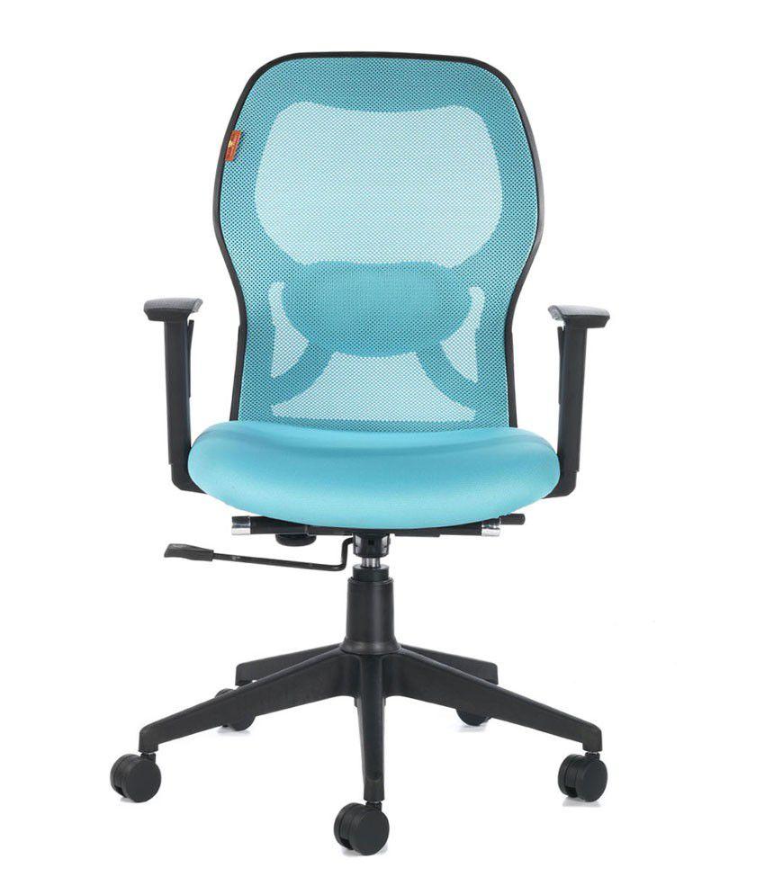 office chair online india mcguire chairs vintage bluebell ergonomic kruz medium back buy