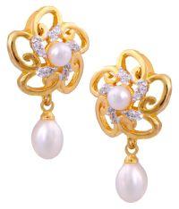 Hyderabad Jewels Golden Earrings: Buy Hyderabad Jewels ...
