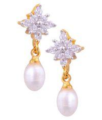 Hyderabad Jewels White Earrings - Buy Hyderabad Jewels ...