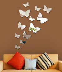 Wall1ders 3D Acrylic Mirror Butterflies Wall Sticker - Buy ...