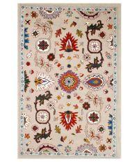 M S Rugs Multicolour Paisley Woollen Carpet - Buy M S Rugs ...