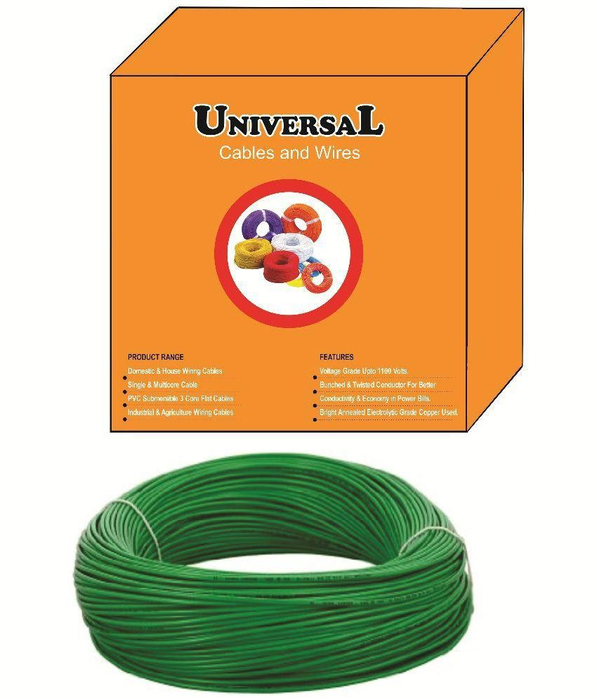 medium resolution of buy universal 1 5 sq mm wire green online at low price in india snapdeal