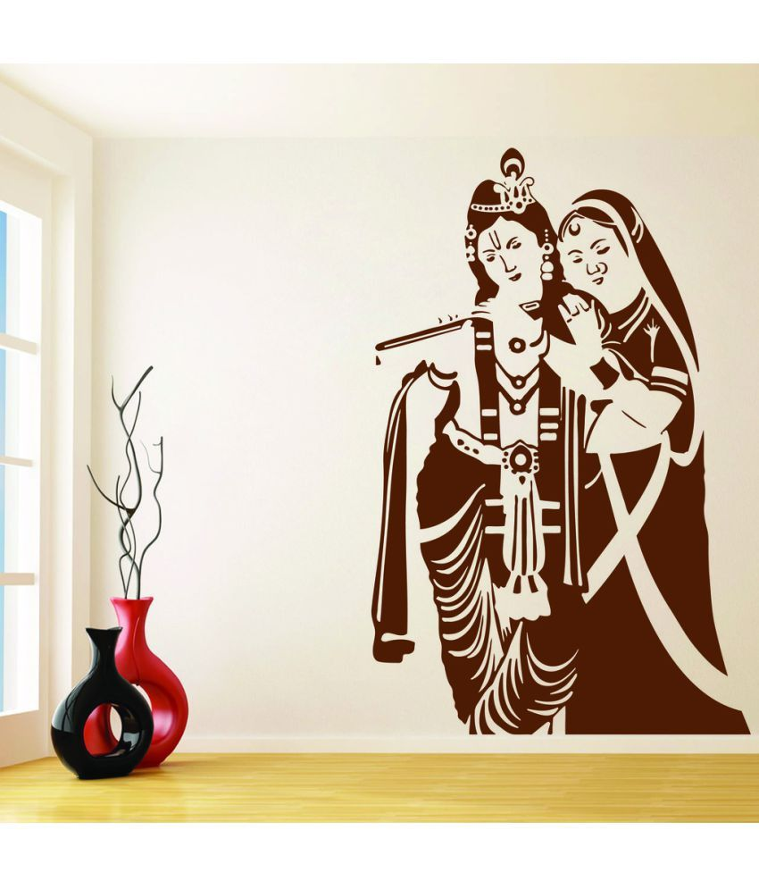 decor villa radha krishna wall pvc wall stickers buy decor villa