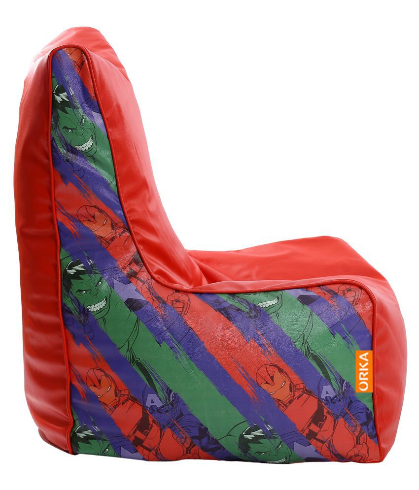avengers bean bag chair counter height chairs orka cover multi colour buy