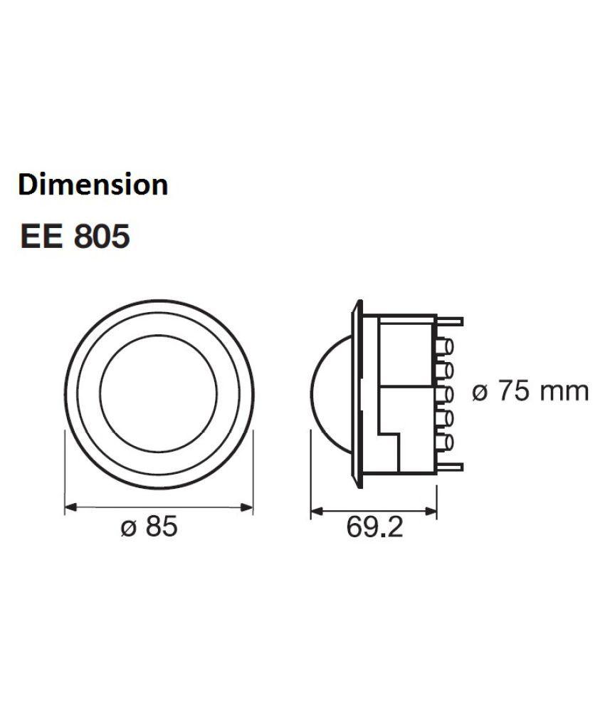 hager hager EE805 360° Motion Sensor Motion Sensor Price