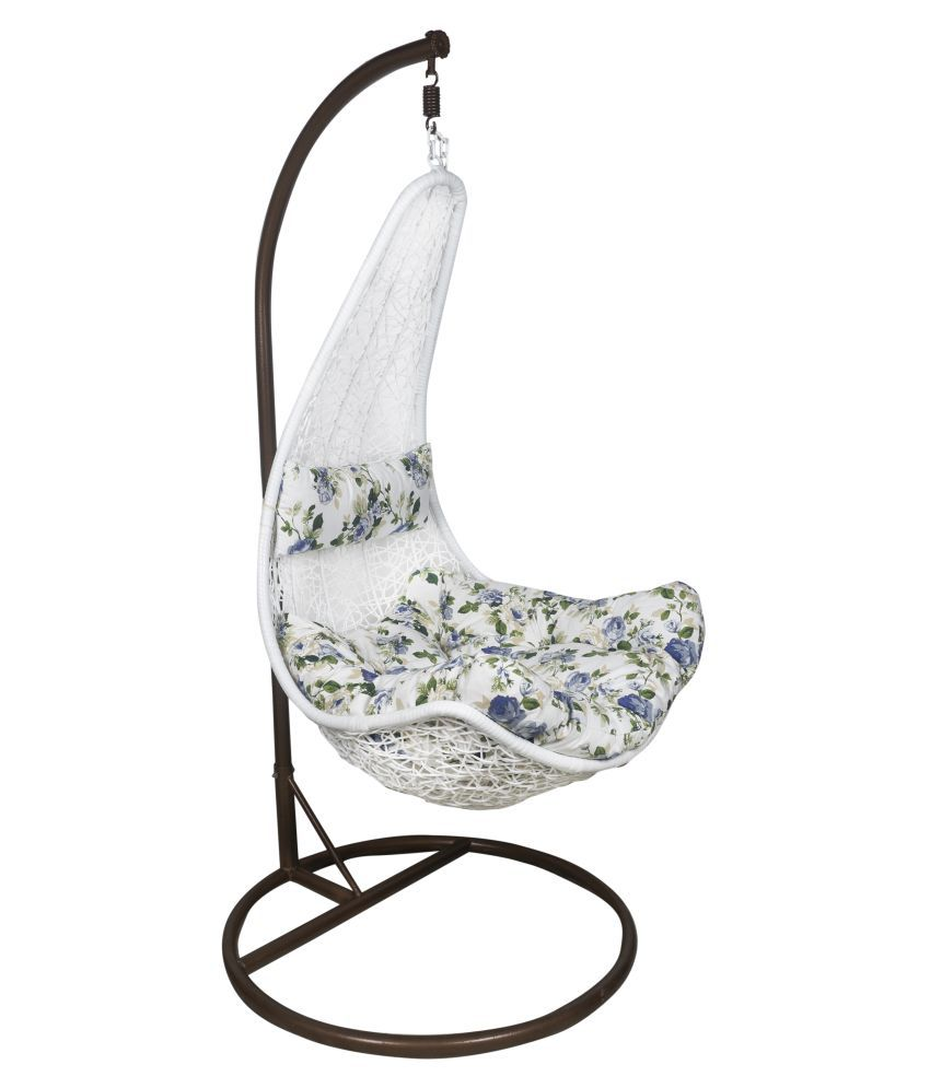 buy chair swing stand dining legs outkraft white hanging with cushions