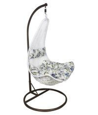 Outkraft White Hanging Chair Swing With Cushions & Stand ...