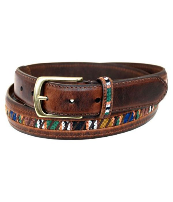 Columbia Men' 32mm Oil Tan Guatemalan Belt Online