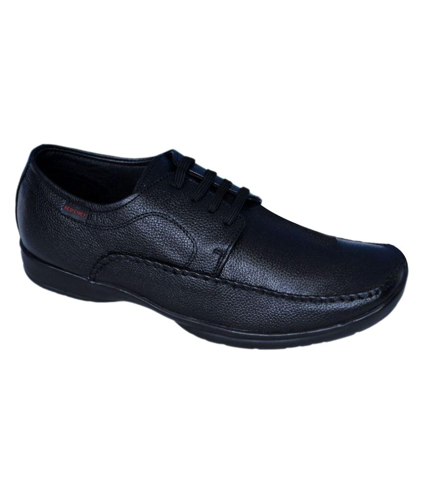 Red Chief Black Office Genuine Leather Formal Shoes Price