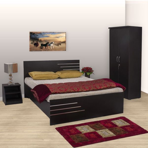 Bls Amsterdam Bedroom Set Queen Bed Wardrobe Side Table
