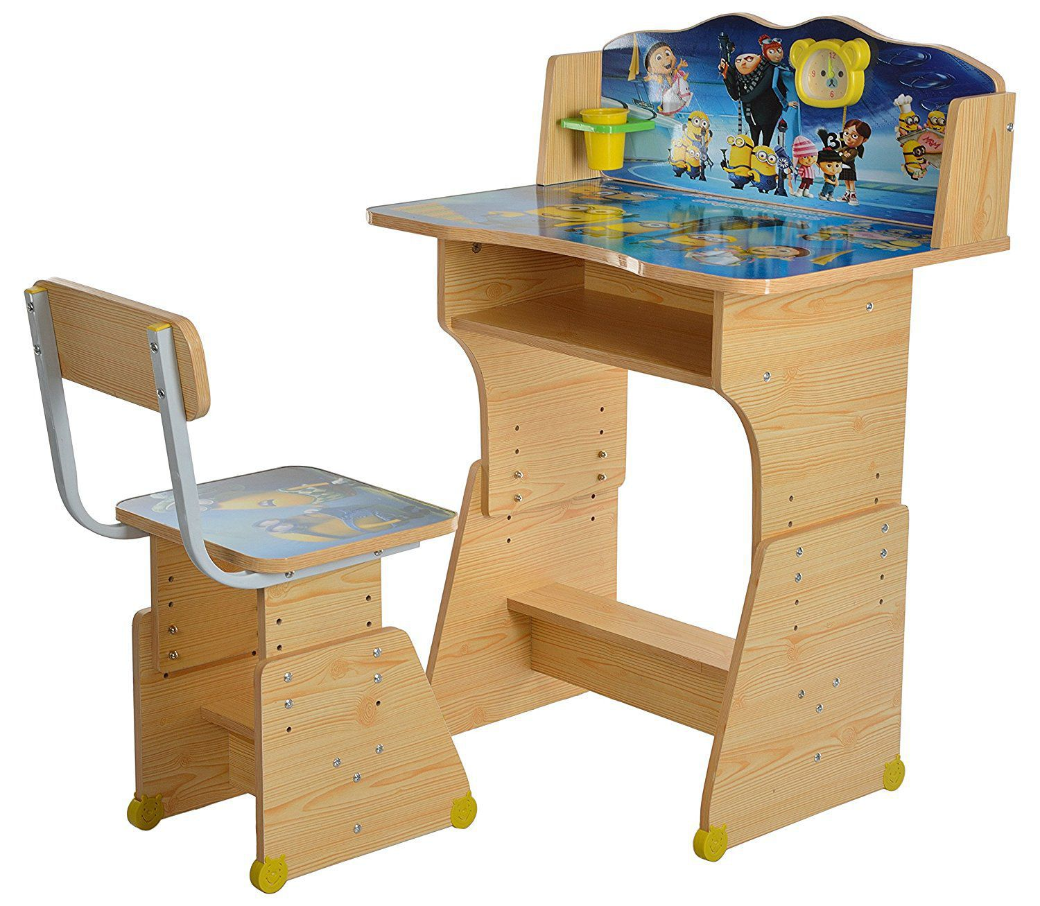 Study Table And Chair Iris Minion Heavy Duty Kids Table And Chair Study Set Wooden
