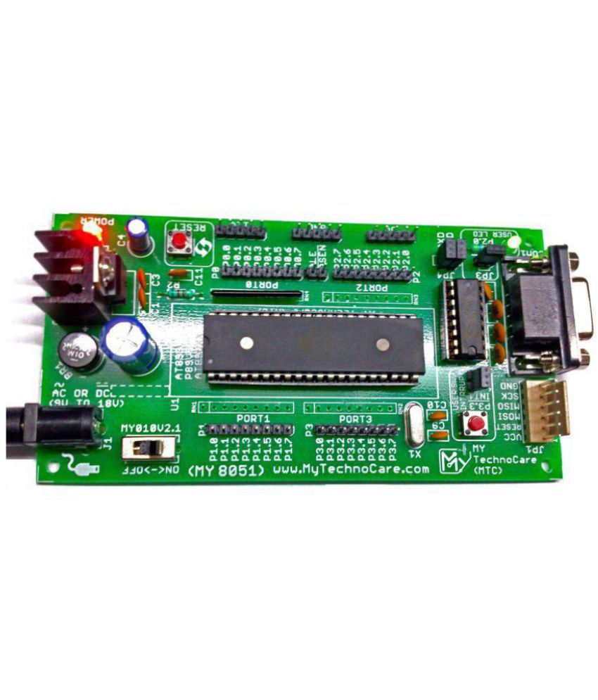 medium resolution of  my technocare atmel 8051 development board project evaluation kit max232 at89s52 microcontroller ic