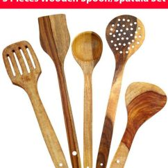 Kitchen Tools Yellow Chairs Worthy Shoppee Handmade Pine Wood Serving And Cooking Spoon Utensil Set Of 5 Buy Online At Best Price In India Snapdeal