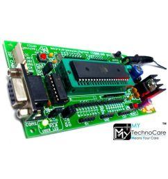 my technocare atmel 8051 development board zif socket max232 at89s52 microcontroller ic project kit support  [ 850 x 995 Pixel ]