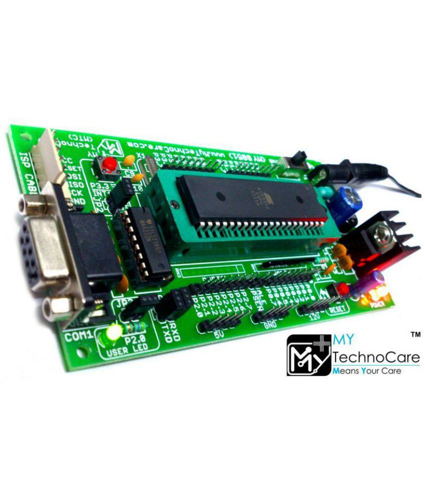 medium resolution of my technocare atmel 8051 development board zif socket max232 at89s52 microcontroller ic project kit support