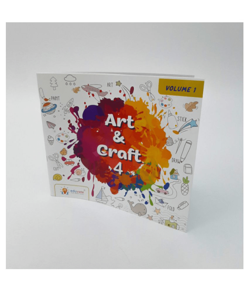 Visual Art And Craft Book & Kit for Grade 4 | Volume 1 | Age: 9 Years & Above | Fun Art and Craft Learning Activities | Draw. Paint. music and ...