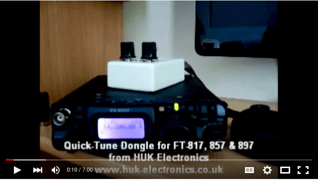 HUK Electronics Quick-Tune Dongle for Yaesu FT-817, FT-857 & FT-897