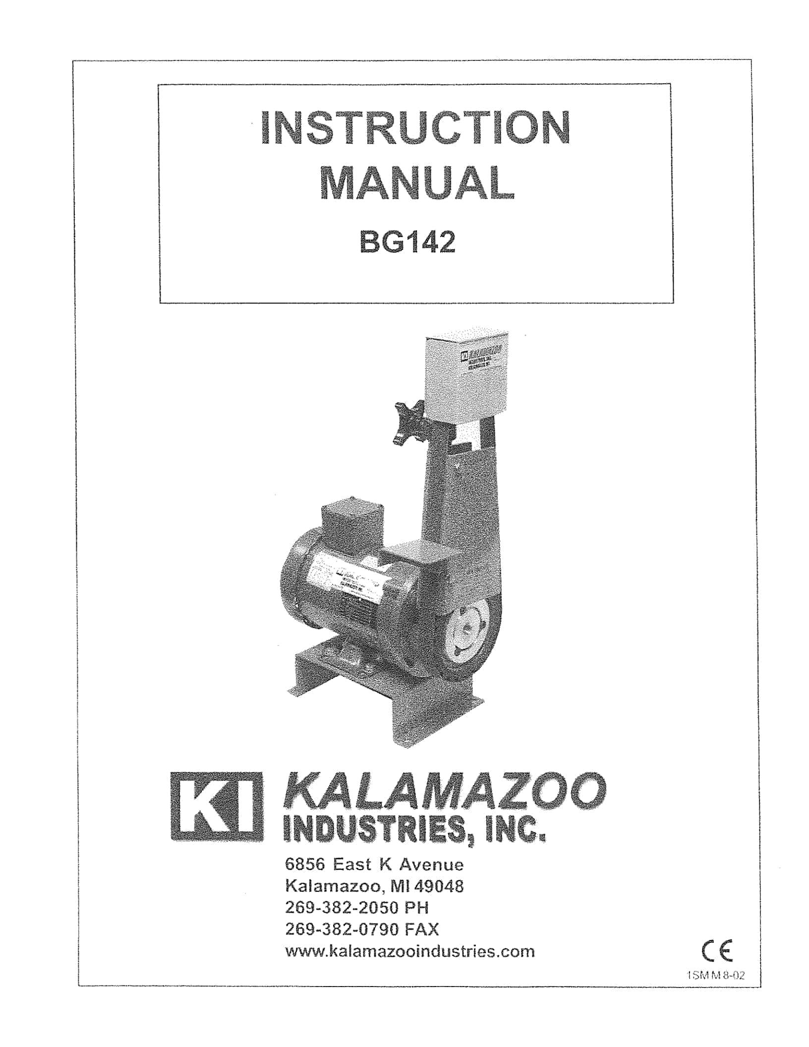 BG142 1 x 42 inch belt grinder manual