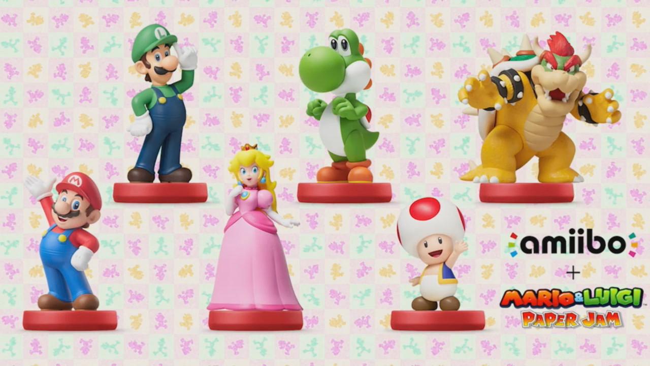 Amiibo in Mario & Luigi: Paper Jam