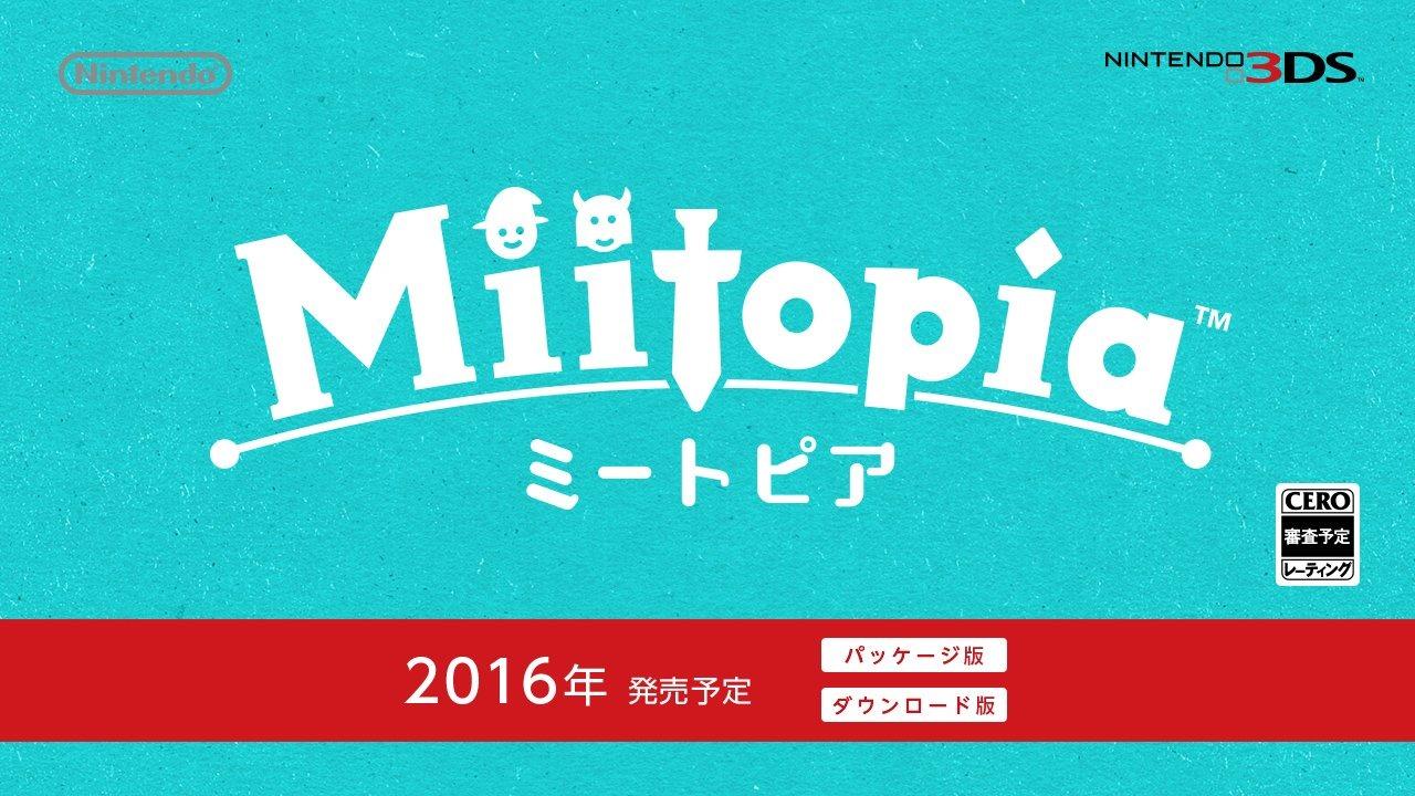 Miitopia Presentato per 3DS