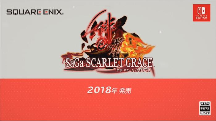 SaGa Scarlet Grace Arrive su Nintendo Switch in Giappone