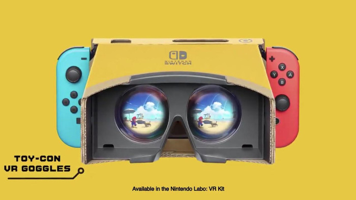 The Legend Of Zelda: Breath Of The Wild e Super Mario Odyssey Compatibili con Nintendo Labo VR