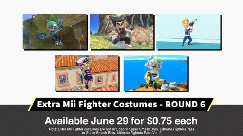 Super Smash Bros Ultimate Extra Mii Fighters Costumes Nintendo Switch