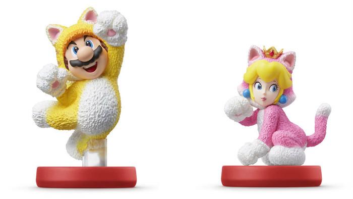 Amiibo di Cat Mario e Cat Peach