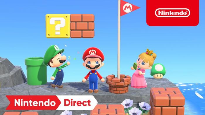 Oggetti di Super Mario in Arrivo in Animal Crossing: New Horizons