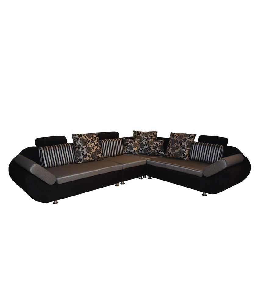 BLS Grey L Shape Corner Sofa Set 6 Seater Buy BLS Grey L