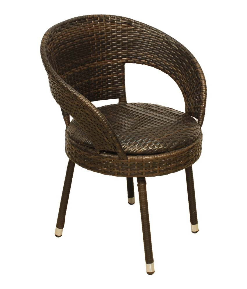 Greenwood Outdoor Wicker Chair in Brown Best Price in