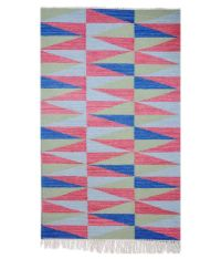 M S Rugs Green And Pink Geometrical Carpet - Buy M S Rugs ...