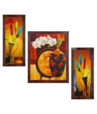 49% OFF on Ray Decor Floral Wall Painting With Frame on ...