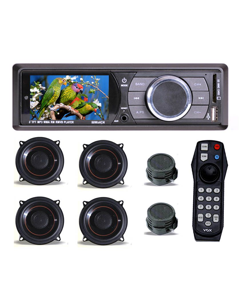 hight resolution of vox car stereo mp5 player 4 speaker 2 tweeters
