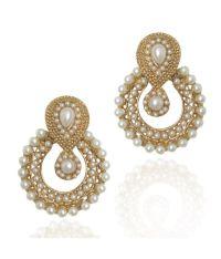 Dancing Girl Traditional Indian Pearl Earrings