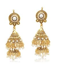 Double decker pearl jhumka south indian temple style ...
