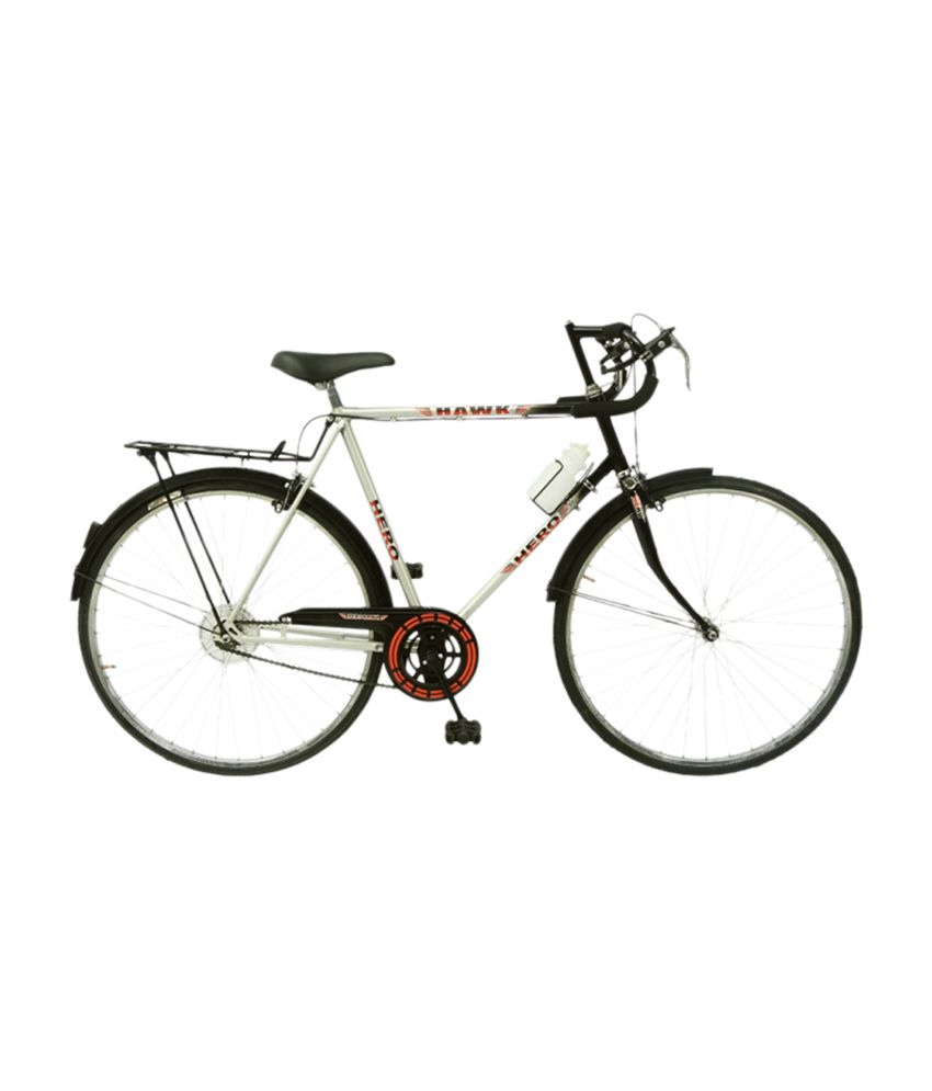 Hero Hawk 27T Bicycle Black Silver: Buy Online at Best