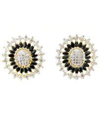 Hyderabad Jewels Black & Golden Stud Earrings - Buy ...