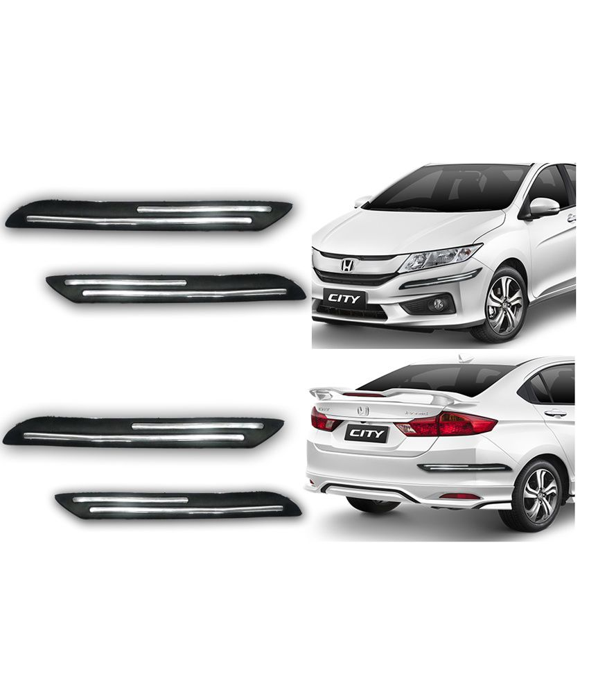 hight resolution of auto pearl double chrome linning bumper corner moulding for honda city ivtec new dull black buy auto pearl double chrome linning bumper corner moulding